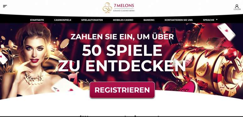 Ein Screenshot vom 7melons Casino