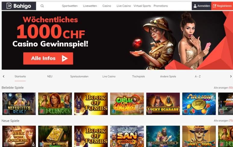Ein Screenshot vom Bahigo Casino
